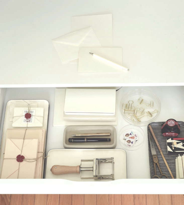 Stationery etiquette kit from Remodelista The Organized Home. Matthew Williams photo.