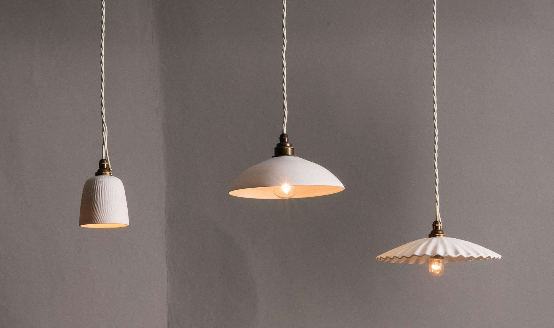 New from deVol: A NYC Showroom and Porcelain Pendant Lights, Handmade in England