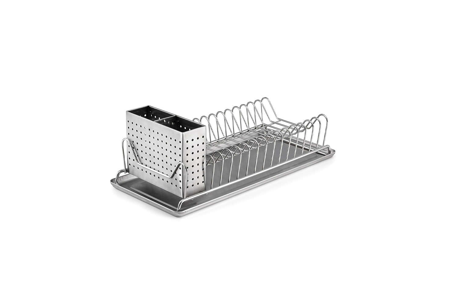 The Polder Compact Stainless-Steel Dish Rack with Utensil Holder is $.99 at Amazon.