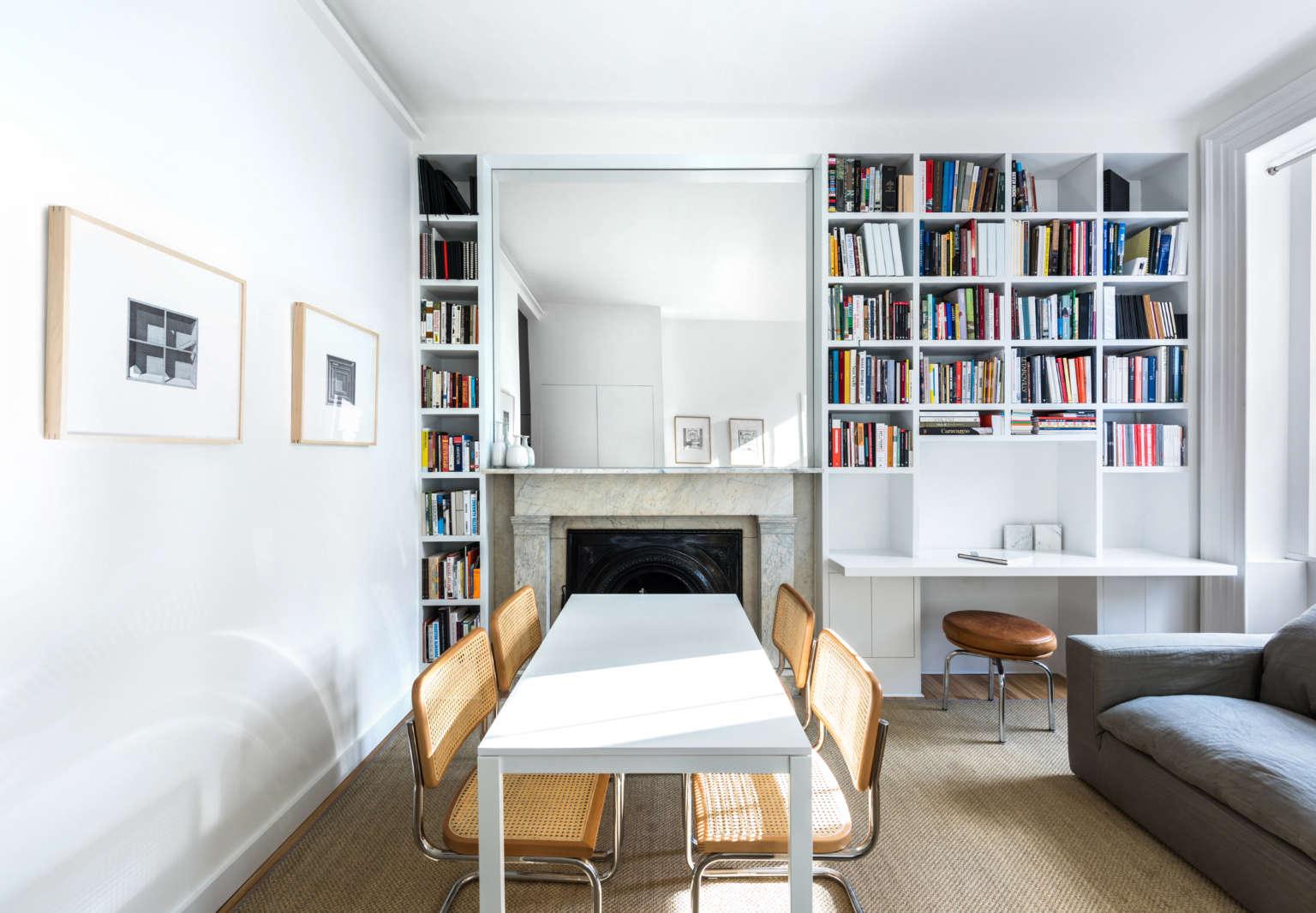 studio ames west village living room mantel alan tansey