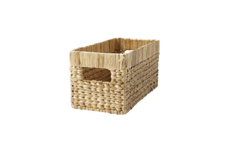 the natural wicker small changing table basket is \$30 at crate & barrel. 17