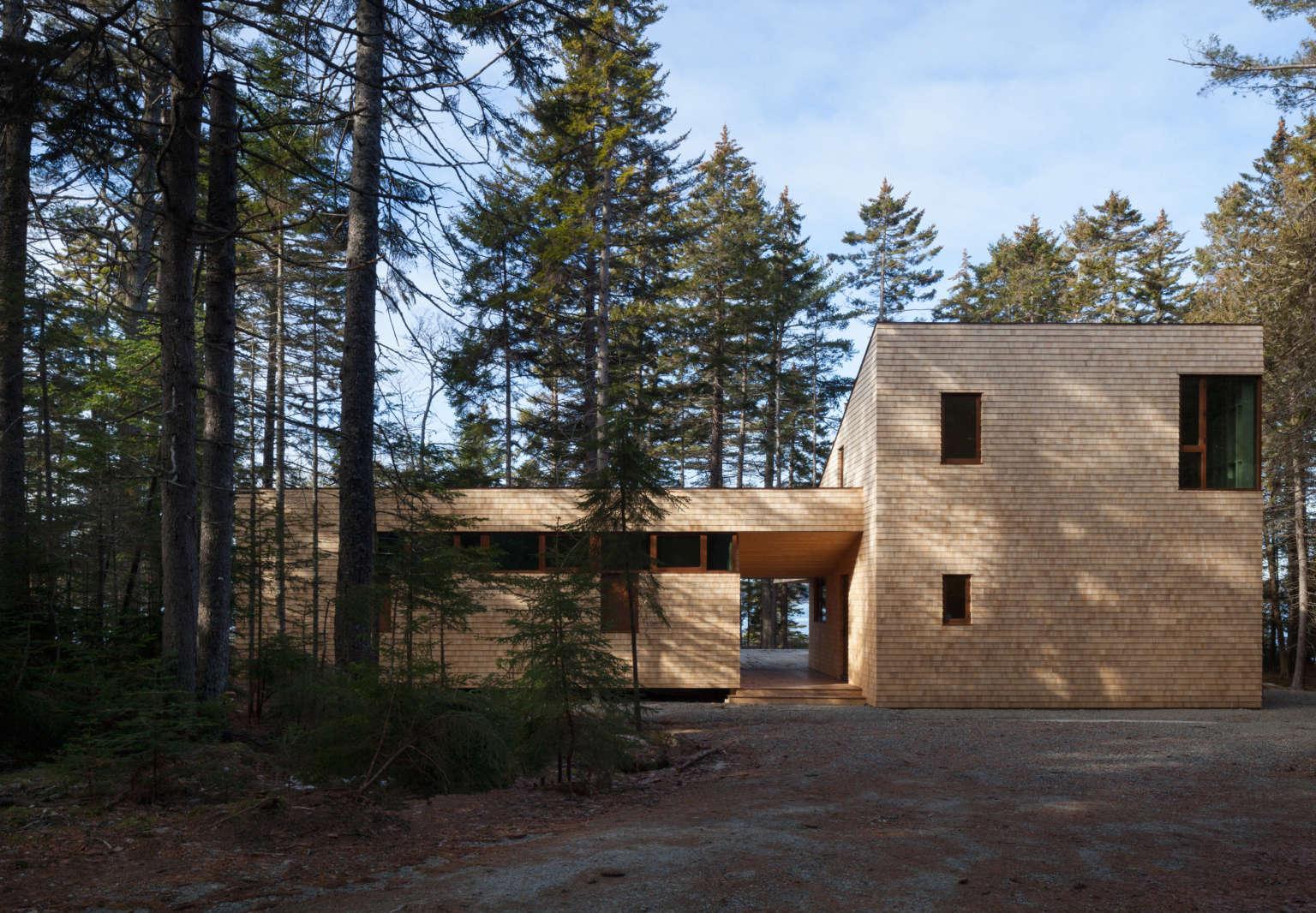somes sound house maine east elevation matthew baird architects 1