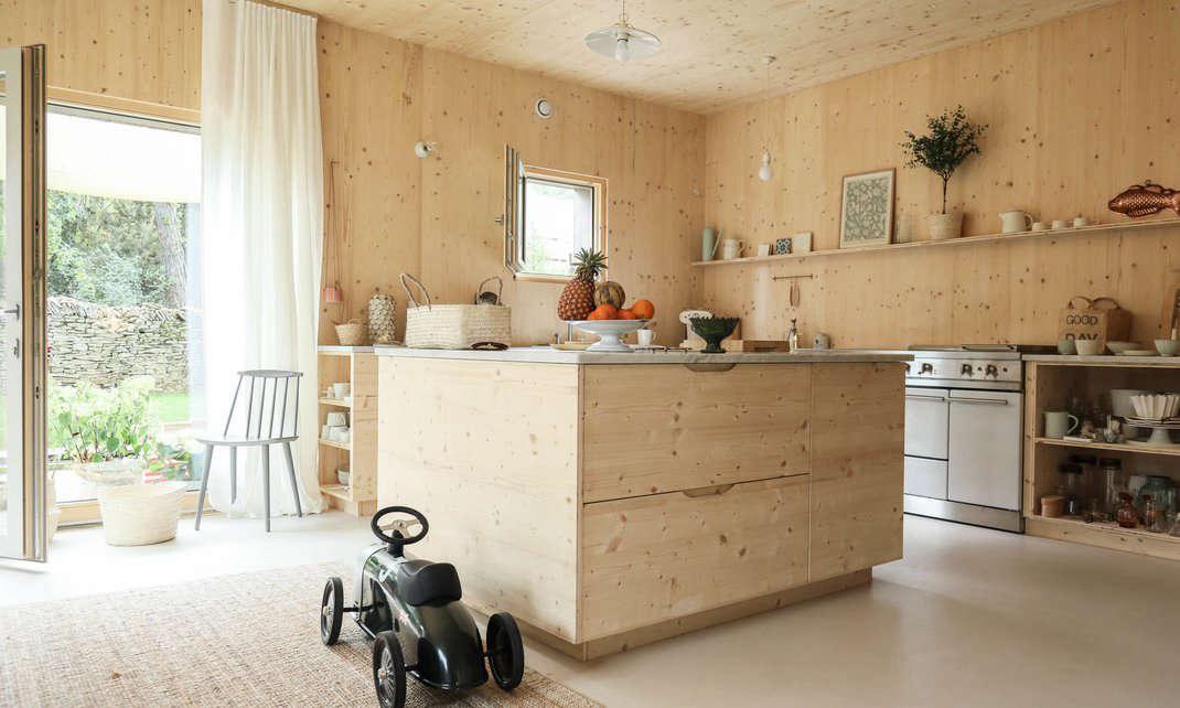 camille boillot plywood house atelier ordinaire kitchen