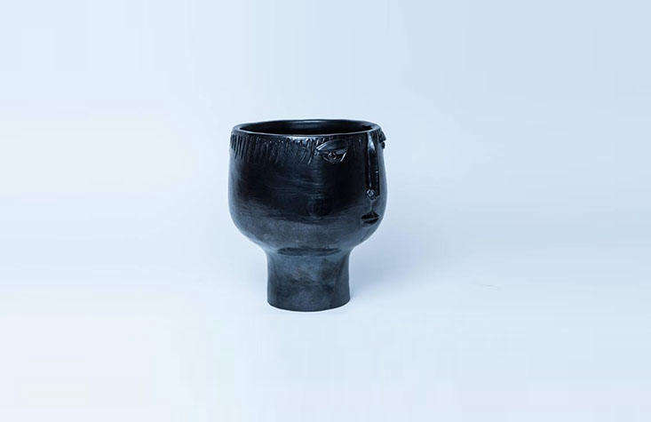 maison cloutier visage ceramic vase 1stdibs