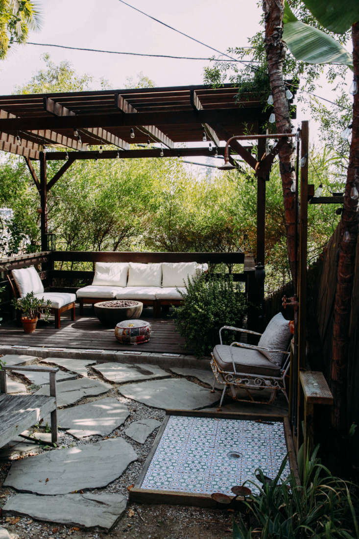 Another view of the secluded patio. Most of the outdoor furniture is from Ikea.