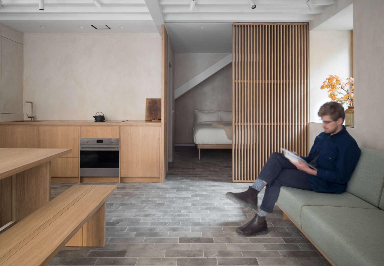 porteous studio interior edinburgh vacation rental izat arundell design zac and zac photo 4