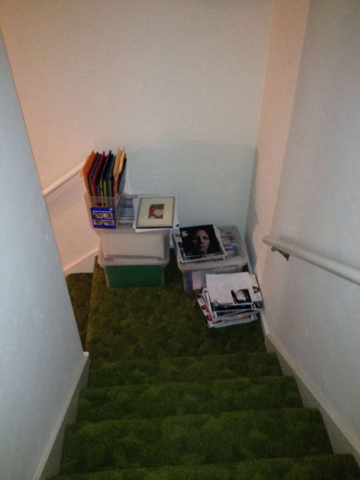 Not only the shag carpeting but the small, enclosed stair were replaced.