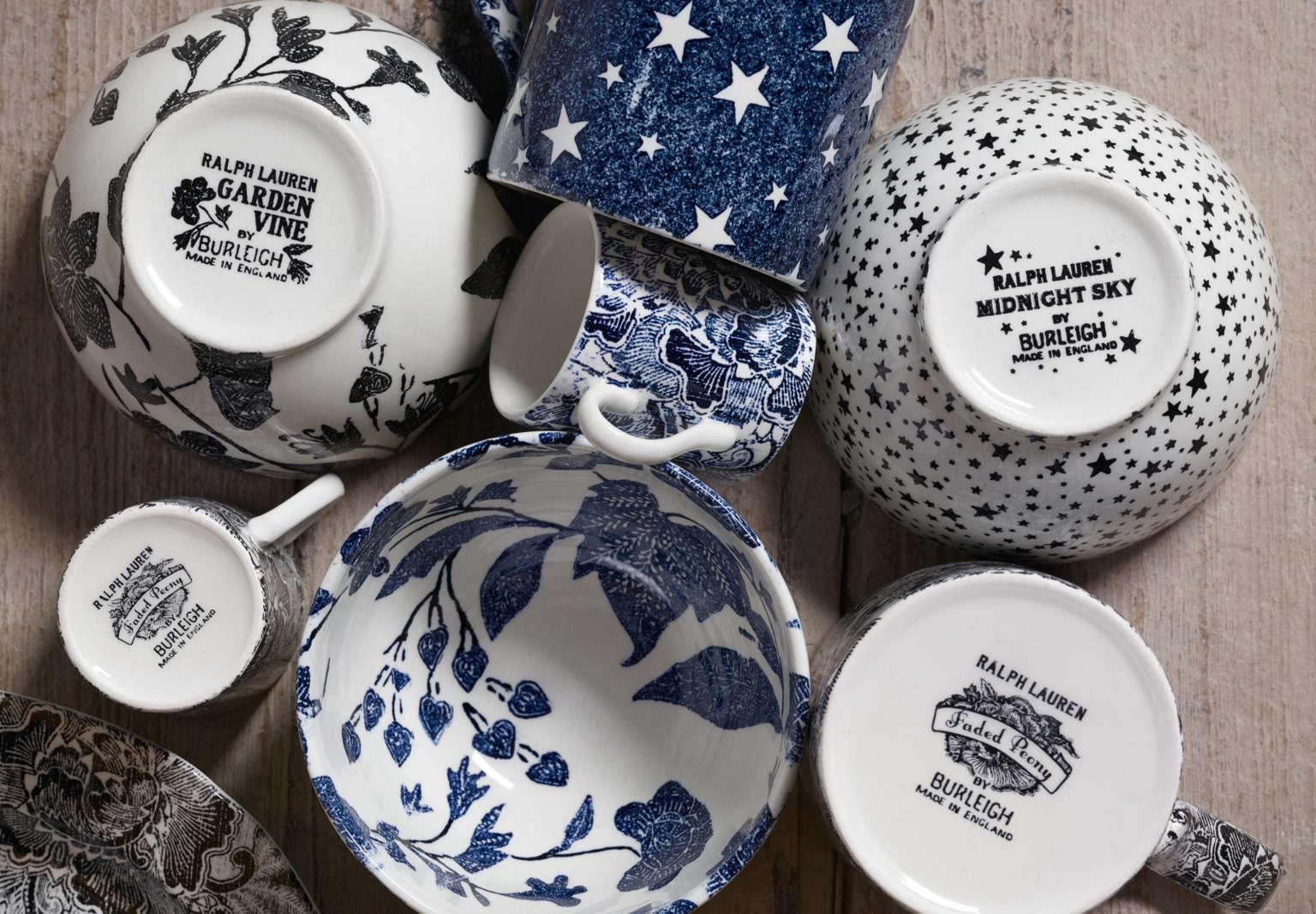 burleigh ralph lauren home ceramics bowls logo