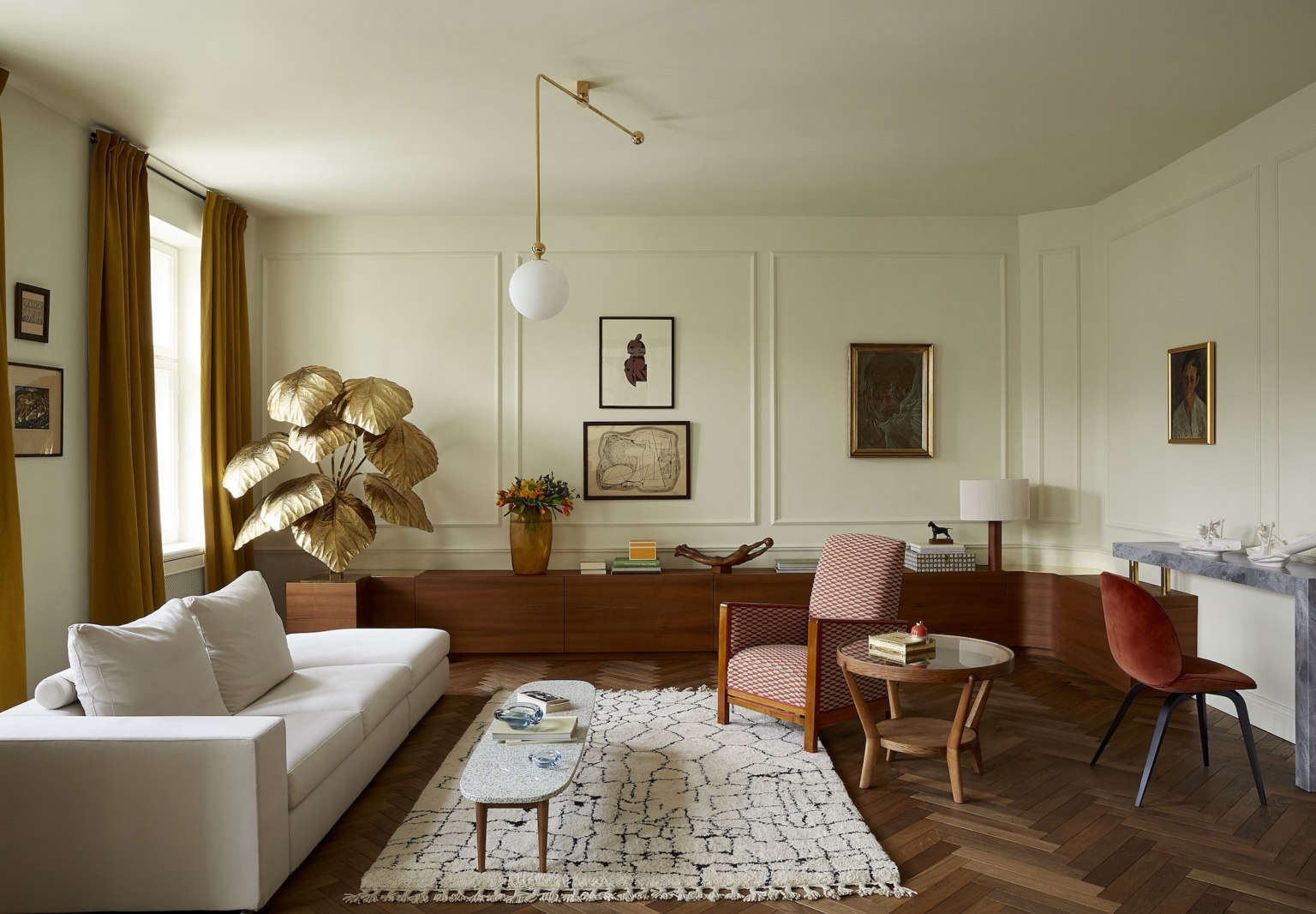 colombe studio marta chrapka warsaw apartment living room