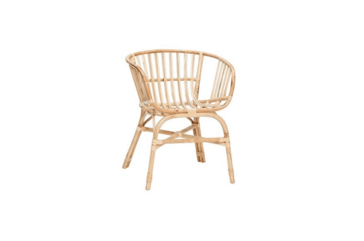 From Denmark-based Bloomingville, a set of two Hubsch Rattan Chairs in natural is €375 from Living and Company.