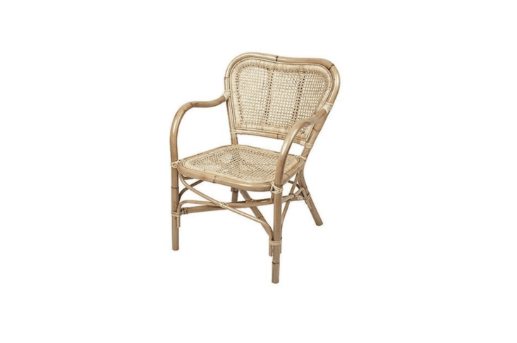 A Broste Copenhagen Ulla Armchair made of natural rattan is €319.95 from Living and Company.