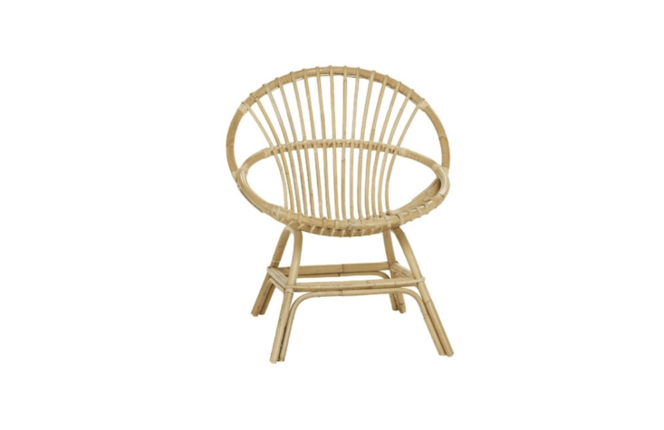 A Brigitte Rattan Armchair is $195 from Kok Maison.