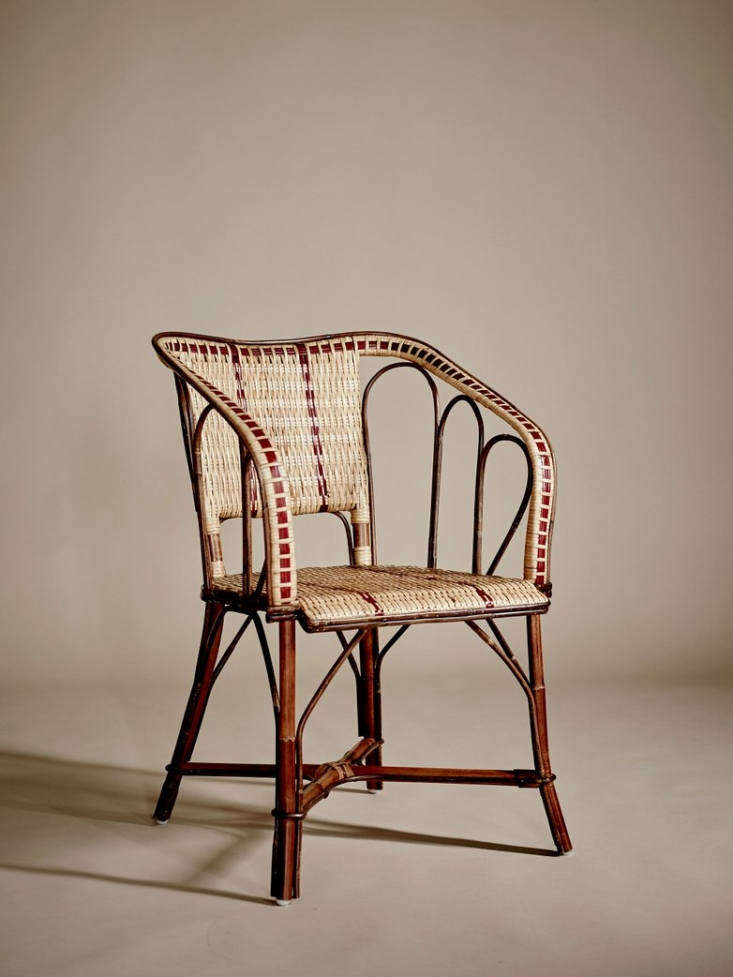 "Made of rattan, a Bagatelle Armchair ""is a tribute to belle époque—the beautiful era—that took place in the last century, during which gardens, parks, and cafes are adorned by furniture in the same design language as these beautiful armchairs,"" notes retailer Artilleriet. It is 2,550 SEK (about $275 US)."