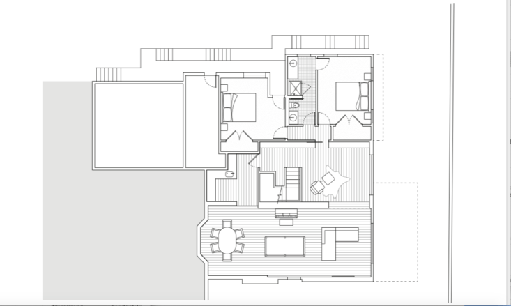 Linked to the main floor by a new stair, the lower level was expanded to include a family room and bedrooms.