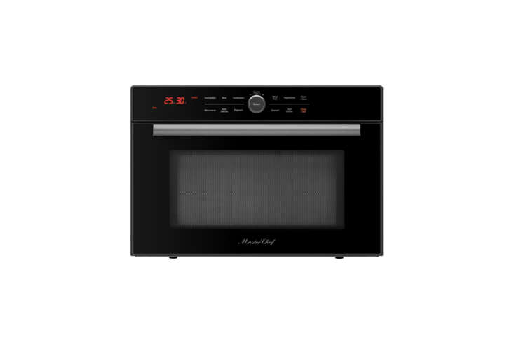 We learned about the Master Chef 5 Ovens in 1 from our sister site, The Organized Home, when a designer used it in her kitchenette remodel. Similar to the popcorn button on a microwave, the oven has presets for common meals that automatically set the energy, temperature, and cooking time; $399.