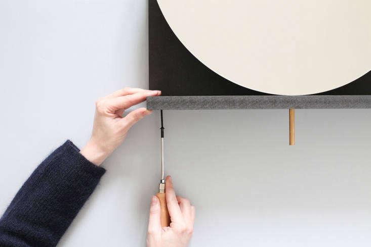 DIY swivel mirror by Heju, Paris, in progress.