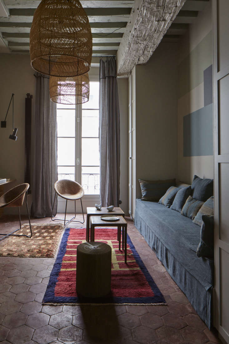 Main Room in Tiny Paris Apartment by Marianne Evennou