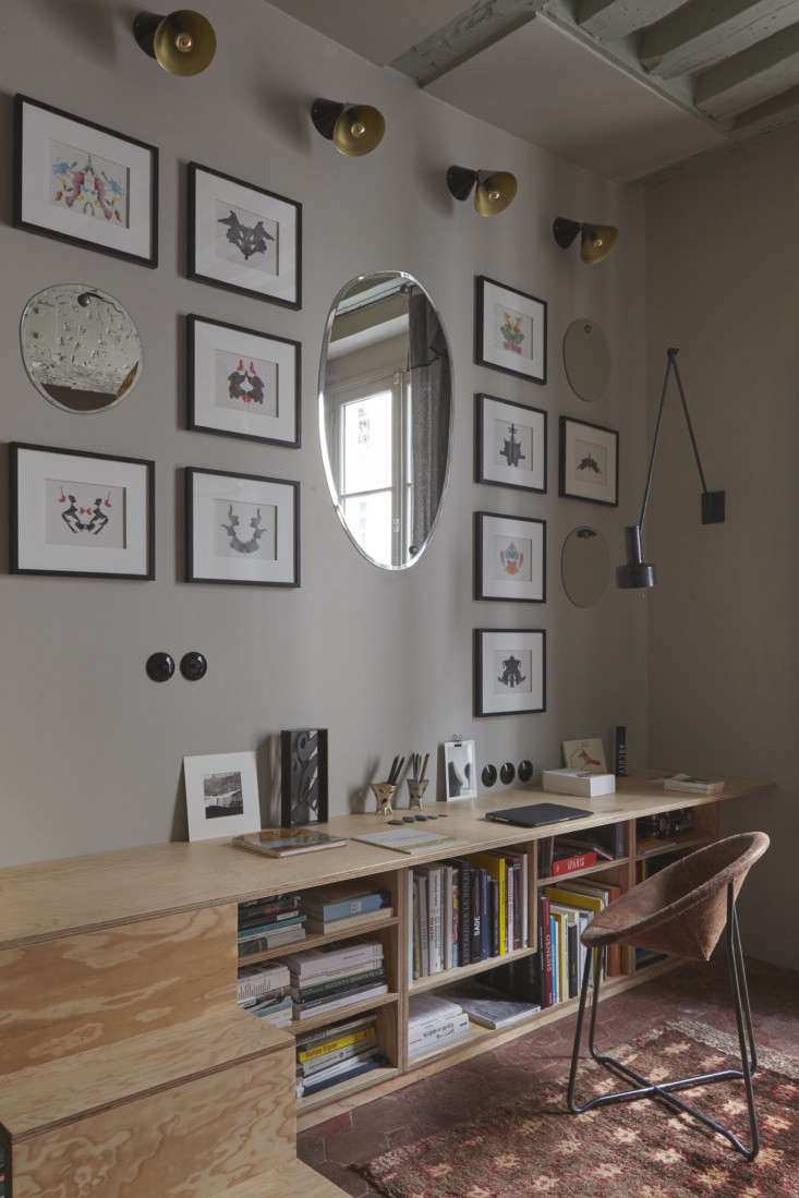 Office in Tiny Paris Apartment by Marianne Evennou