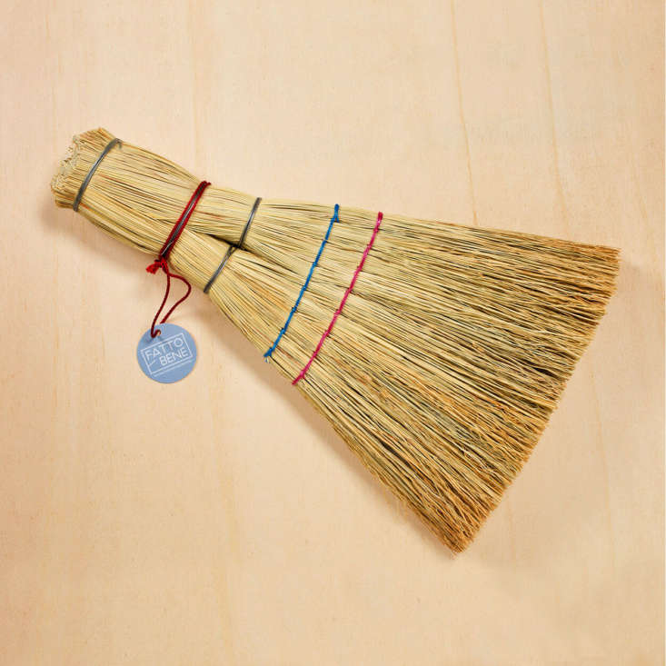 The Barca Straw Whisk Broom is made from dried sorghum; $12.