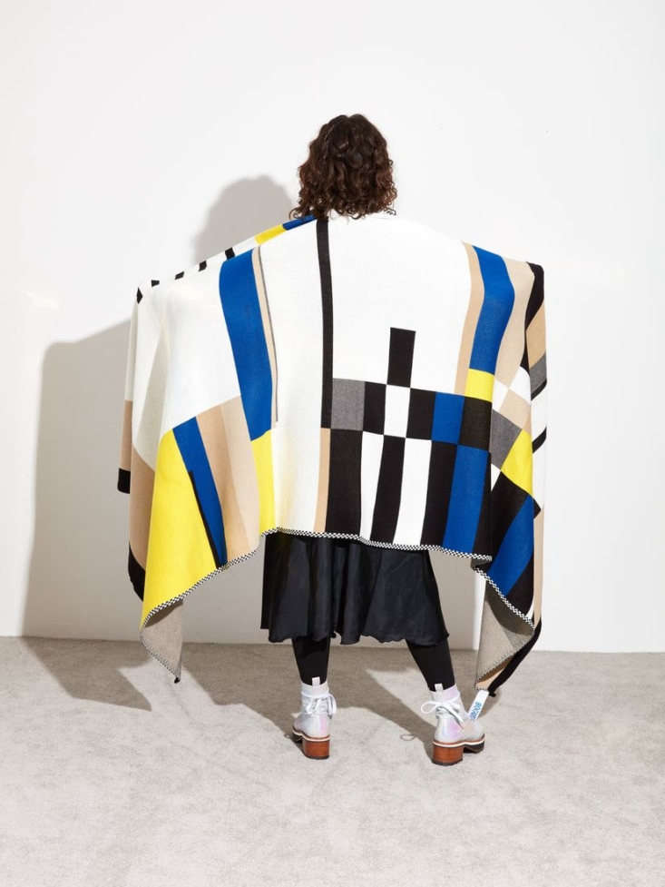 This Throw Blanket was designed for Hotel Esencia by Bogus Studio, a furniture and textile brand created by Valentin in collaboration with Alexander Diaz-Andersson. It's at Coming Soon NY for $320.