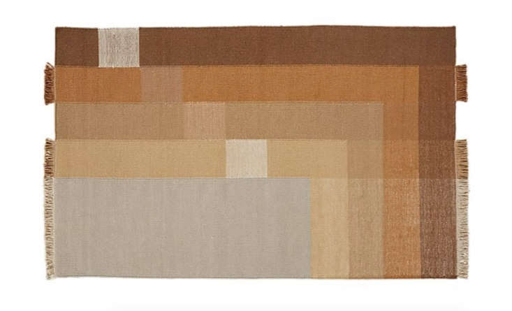 For a similar-in-spirit rug, try CB2's Pigment Color Block Rug; from $349.