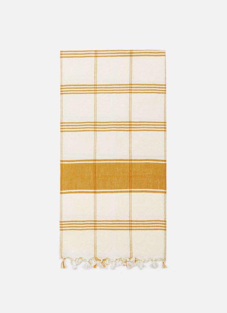 heather taylor home country plaid tea towel
