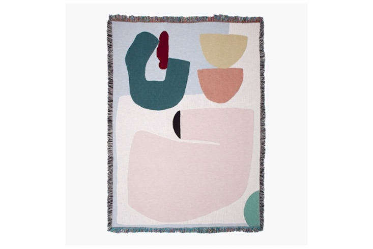 Slowdown Studio currently carries 16 artist-designed blankets. This one, the Arthur Throw, is by East London-based textile designer and artist Laurie Maun; $230.