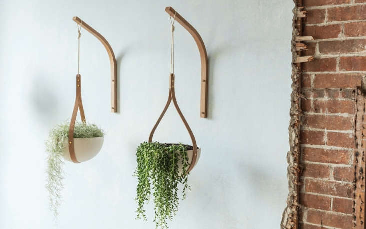 His Morvah Wall Hanging Planters are fabricated from sustainably sourced oak; £\275.