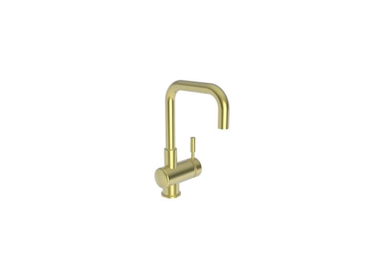 The East Square Bar Faucet in the aged brass finish is $loading=