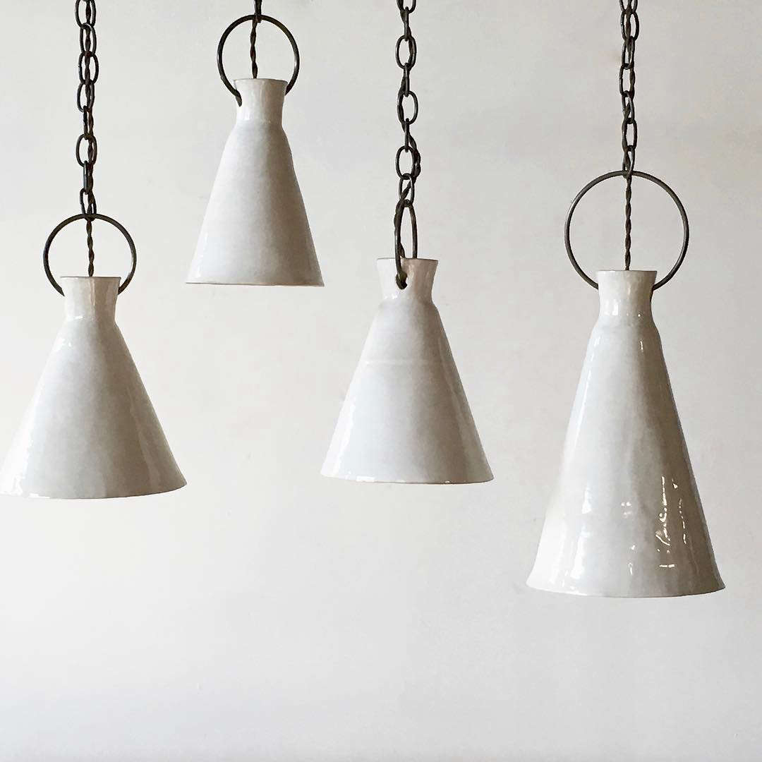 High/Low: Artisanal Porcelain Pendant Light
