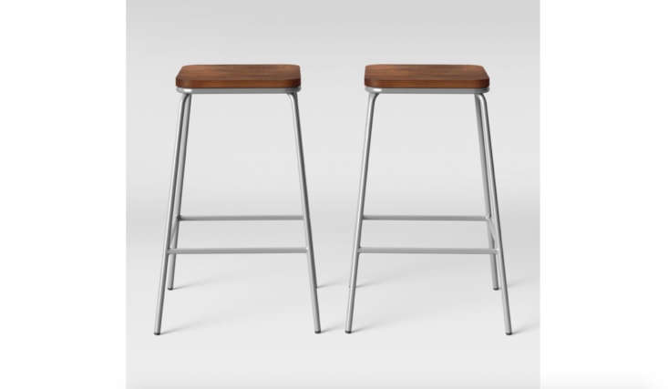 Project 62's Rhodes Metal Wood Seat Square Counter Stool at Target