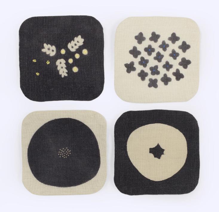 Tomotake linen coasters