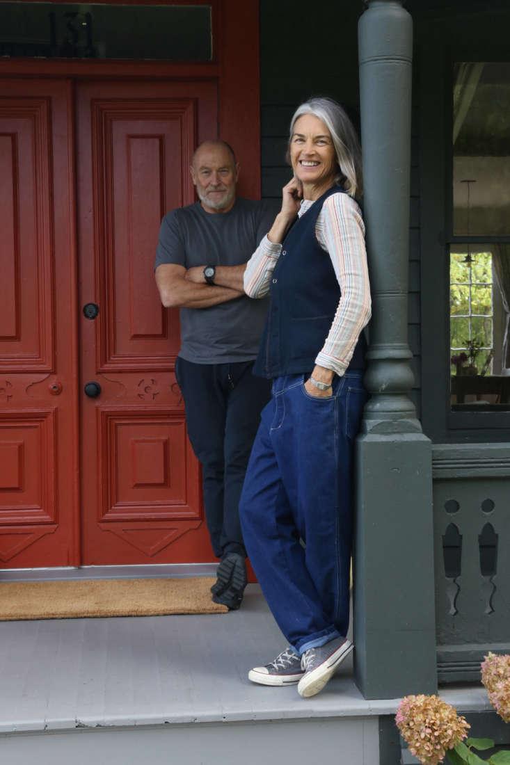 Amanda Pays, Corbin Bernsen, at home in Upstate, NY.