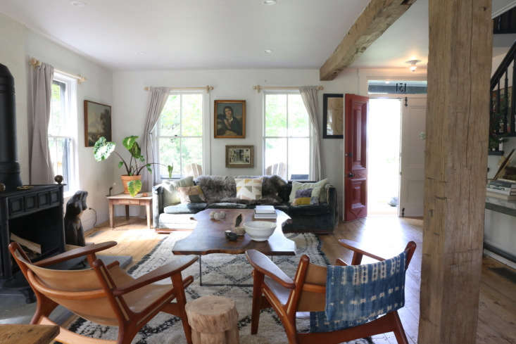 Amanda Pays, Corbin Bersen living room, upstate NY historic house remodel by Amanda Pays. Rebecca Westby photo.