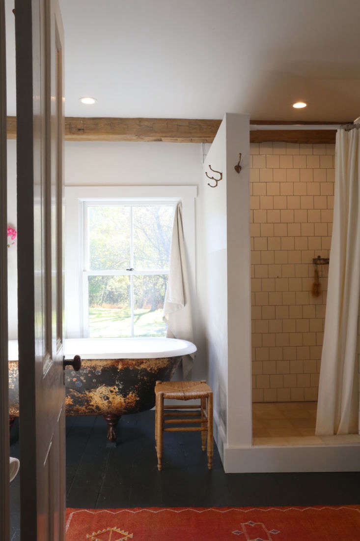 New-old master bath, upstate NY historic house remodel by Amanda Pays. Rebecca Westby photo