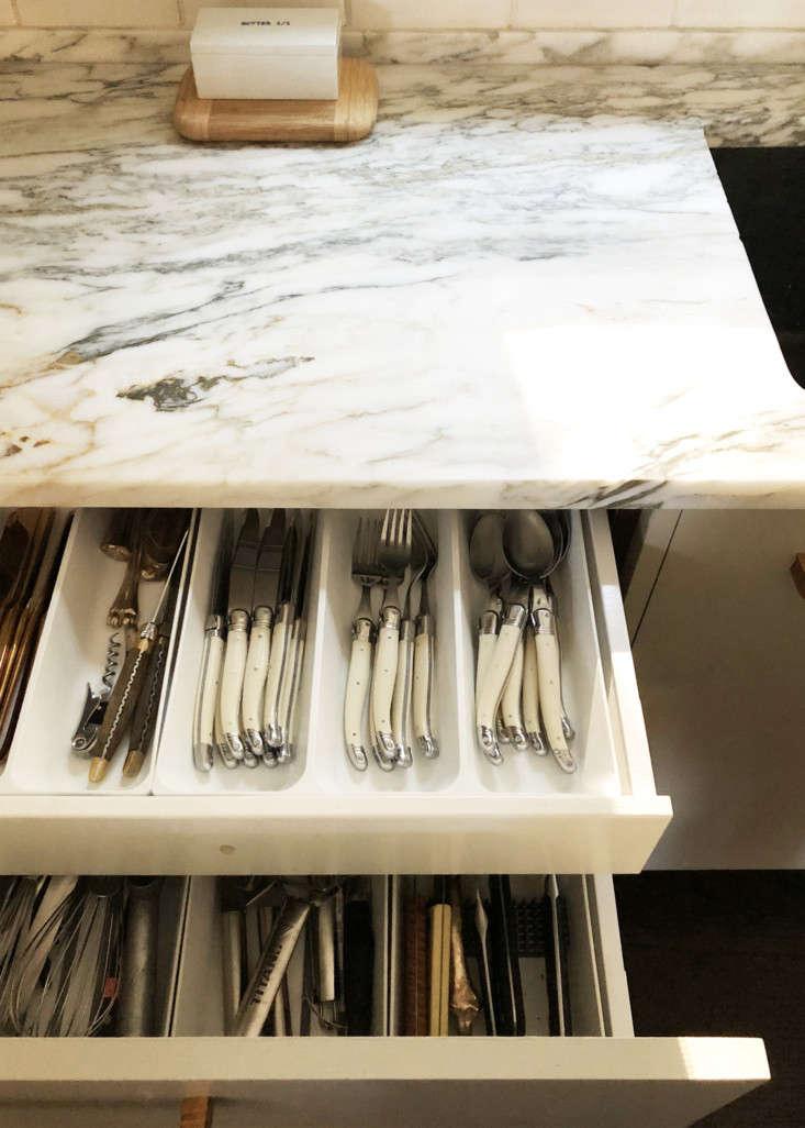 Dumais kitchen Litchfield, CT, cutlery drawer.
