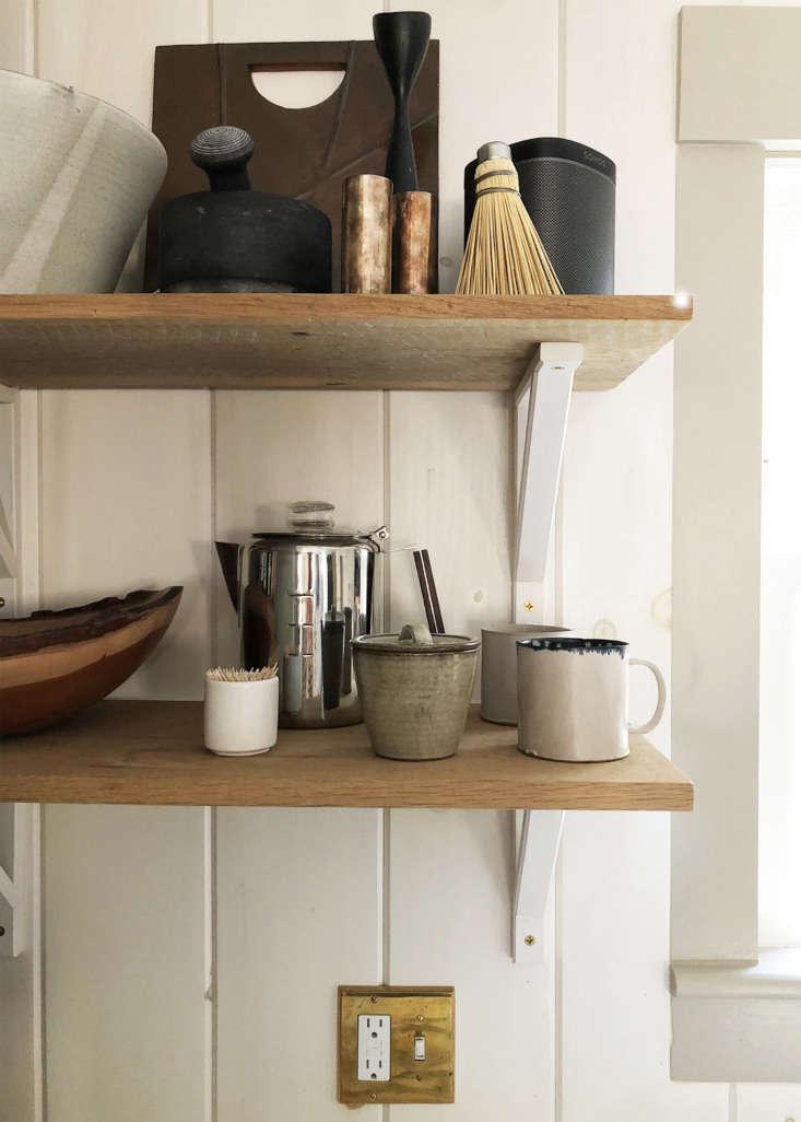 Dumais kitchen Litchfield, CT, shelf detail.