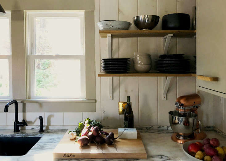 Dumais kitchen Litchfield, CT, counter detail.