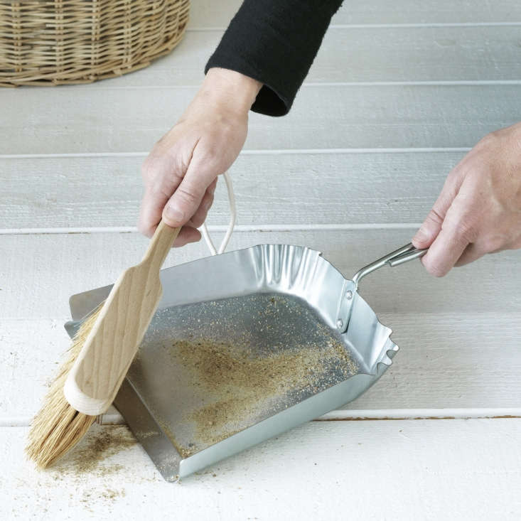 The galvanized stainless steel Dust Pan and Brush are sold together for $12.99.