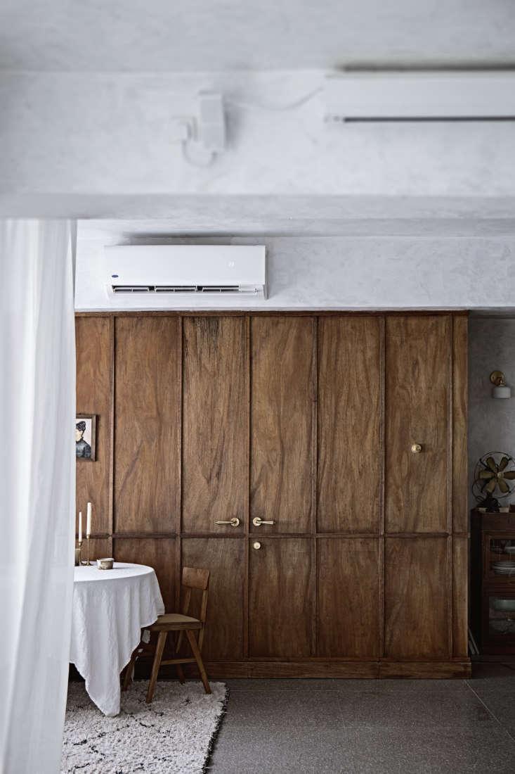 Mandy Lee Lady & Pups Hong Kong Apartment Wooden Wall