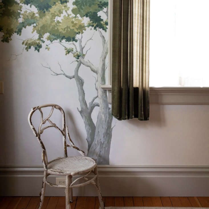while a mural of foggy moodiness dominates the walls of the great room, all the 11