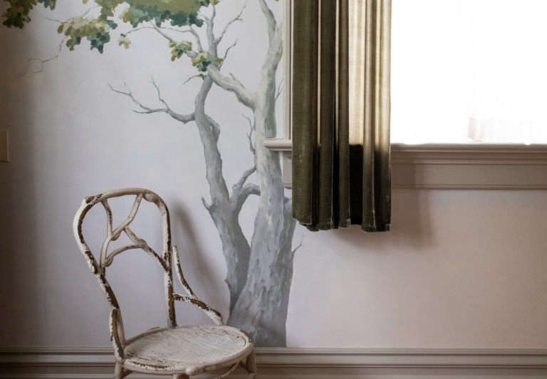 oelma room chair tree painting