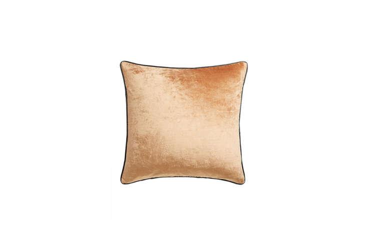 Copper Crushed Velvet Pillow from CB2
