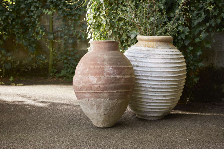 The new garden shop includes a wide range of planters and pots, including vintage finds, like this charmingly worn Natural Turkish Terra Cotta Olive Oil Jar from the s (at left, $459) and White Turkish Ribbed Terra Cotta Olive Oil Jar from the 90s ($loading=
