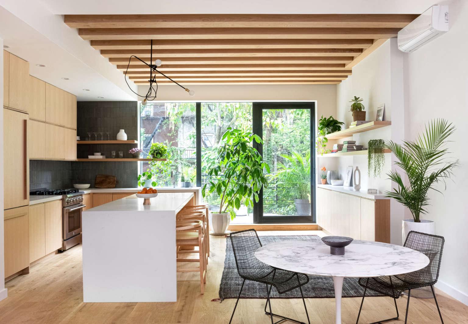 Kitchen of the Week A Scandi Blonde Wood Design in BedStuy Garden Included portrait 3