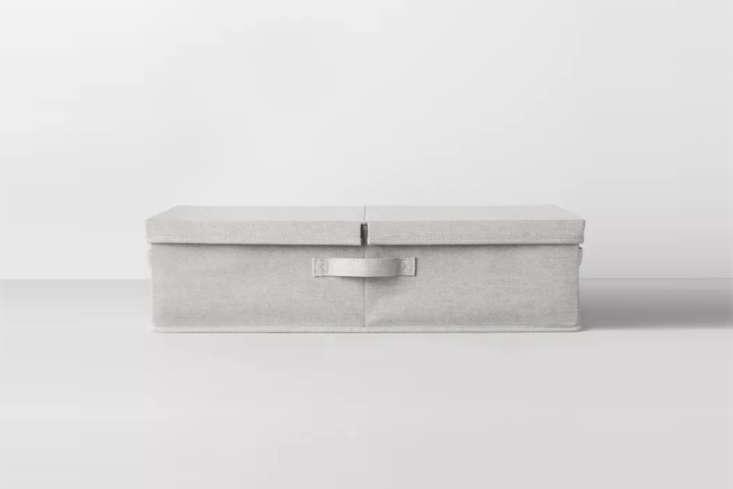 Underbed Fabric Bin Light Gray