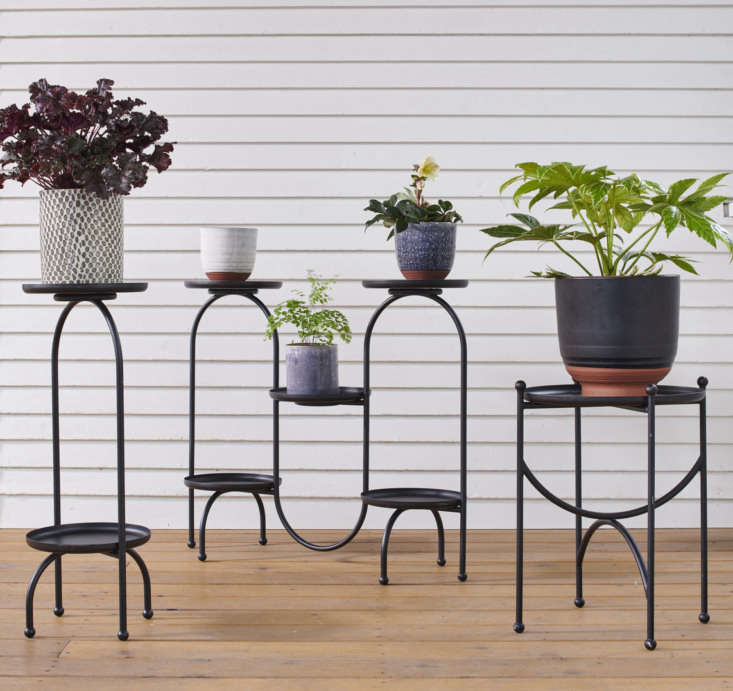 Rejuvenation's got plant stands, too. Mix and match any of their petite planters on these Scandinavian-inspired Black Tray Plant Stands—available in one-tray ($9), two-tray ($loading=
