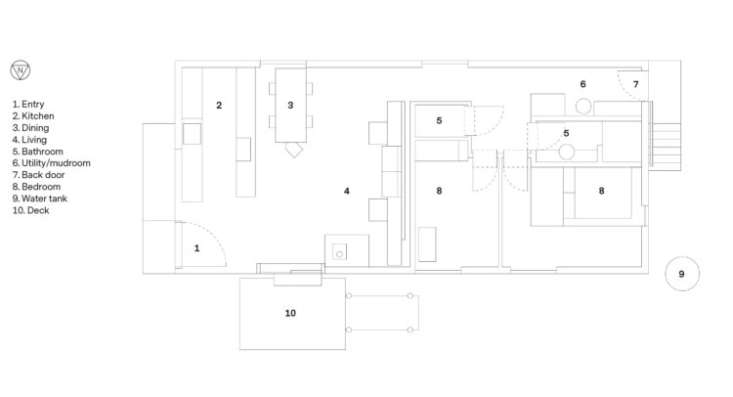 Architect Ben Daly Shearing Shed floor plan.