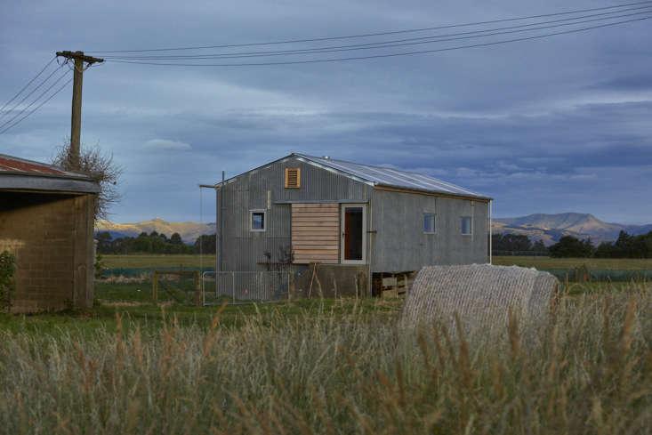 Converted shearing shed back view, architect Ben Daly, Palace Electric, Canterbury, NZ. , Canterbury, NZ. Samuel Hartnett photo.
