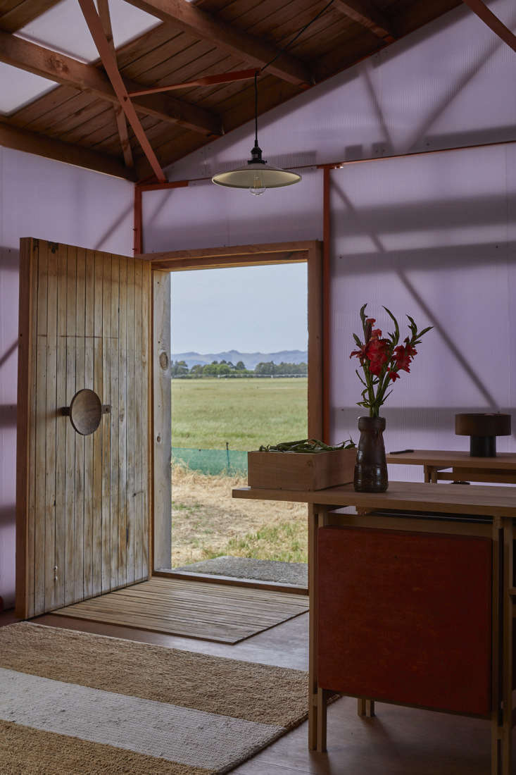 Converted shearing shed entry, Ben Daly, Palace Electric, Canterbury, NZ. Samuel Hartnett photo.